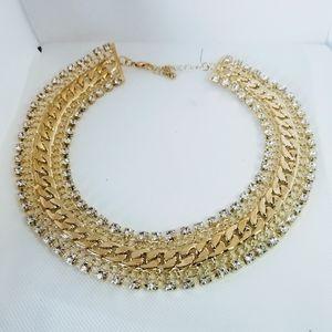 Gold Choker Necklace with beautiful stonework